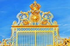 Golden Gate of Chateau de Versailles Stock Photo