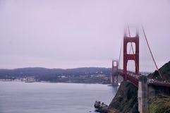 Golden Gate con nebbia Fotografia Stock Libera da Diritti