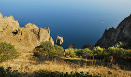Golden Gate da rocha, Crimeia, Rússia Fotos de Stock Royalty Free