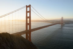 Golden Gate at dawn Royalty Free Stock Images