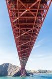Golden Gate de debajo Foto de archivo