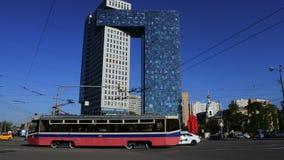 Golden Gate del centro de negocios en la carretera de los entusiastas, Moscú, Rusia almacen de metraje de vídeo