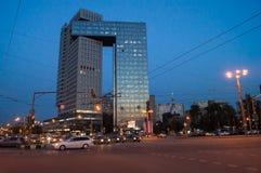 Golden Gate del centro di affari sulla strada principale degli entusiasti, Mosca, Russia Fotografia Stock Libera da Diritti