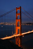 Golden Gate at Dusk Royalty Free Stock Photography
