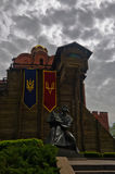 Golden Gate e Yaroslav o sábio em Kiev Fotografia de Stock