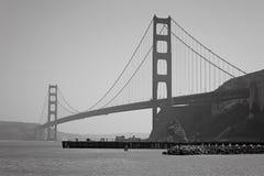 Golden Gate em preto e branco Fotografia de Stock