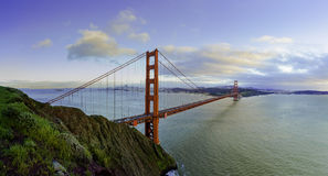 Golden Gate en hiver Photographie stock