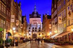 Golden Gate en la ciudad vieja de Gdansk, Polonia Imágenes de archivo libres de regalías
