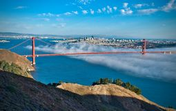 Golden Gate en mist Royalty-vrije Stock Foto