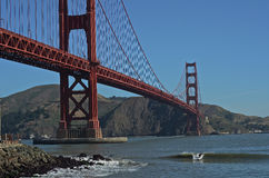 Golden Gate facet Który jest Mój San Francisco Kształtuje teren Obraz Stock