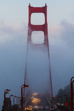 Golden Gate in the Fog Stock Photography