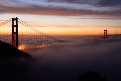 Golden Gate in the fog Stock Image
