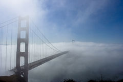 Golden gate in the fog Royalty Free Stock Photos