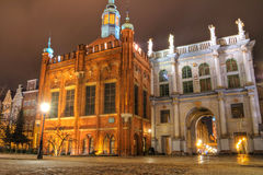 Golden Gate in Gdansk. At night - Poland Royalty Free Stock Photos