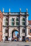 Golden Gate in Gdansk, Poland Stock Images