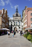 Golden Gate of Gdansk in Poland Royalty Free Stock Photography