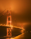 Golden Gate Glow Stock Image