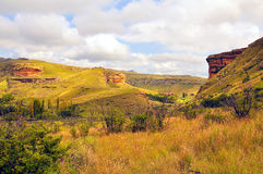 Golden Gate Highlands National Park. In the Fee Ste South Africa. Glorious colours of sandstone and many interesting geological findings Stock Image
