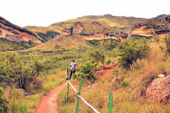 Golden Gate Highlands National Park. In the Fee Ste South Africa. Glorious colours of sandstone and many interesting geological findings Stock Images