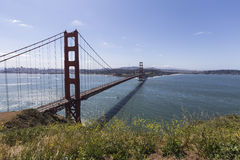 Golden Gate Hilltop View Royalty Free Stock Images