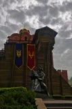 Golden Gate i Yaroslav Mądry w Kijów Fotografia Stock