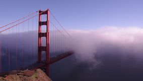 Golden Gate im Nebel stock video
