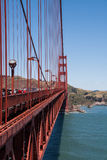 Golden gate and its cables. Golden gate, San Francisco. California, USA Royalty Free Stock Photos