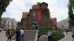 Golden Gate, Kiev stock video