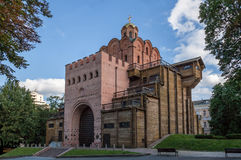 Golden gate in Kiev, Ukraine Stock Images