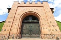 Golden Gate Kijów, stal fałszował wejściowych drzwi obrazy stock