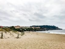 Baker Beach With houses stock image