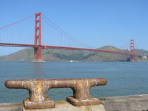 Golden gate mooring Stock Photo