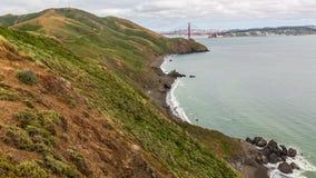 Scenic Coastal View of Golden Gate Bridge stock photography