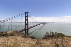 Golden Gate-Nebel-Bank Stockbild