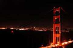 Golden Gate Night Stock Image