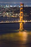 Golden Gate at night. California stock photography