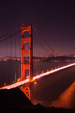 Golden Gate North Tower. Golden Gate bridge at night seen from Marina Headlands, San Francisco, California Royalty Free Stock Photo