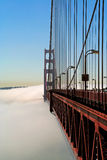 Golden Gate over the fog royalty free stock photography