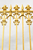 The golden gate of the Palace of Versailles, or Chateau de Versailles, or simply Versailles, in France Stock Photo