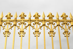 The golden gate of the Palace of Versailles, or Chateau de Versailles, or simply Versailles, in France Royalty Free Stock Photos