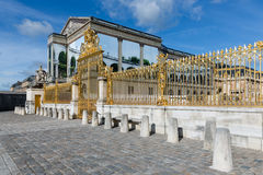 Golden gate of Palace Versailles near Paris, France Royalty Free Stock Images