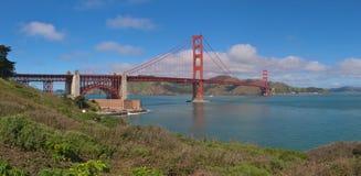Golden Gate panorama. Panorama shot of the Golden Gate Bridge, San Francisco Royalty Free Stock Photography