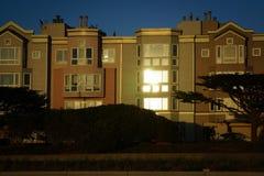 Заход солнца Сан-Франциско Калифорния Golden Gate Park стоковое изображение rf