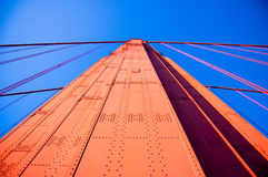 Golden gate perspective Royalty Free Stock Photography