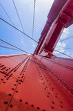 Golden Gate polygon Bridge in San Francisco. Stock Image