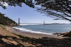 Golden Gate Recreation Area Bridge View Beach Cove Stock Photos