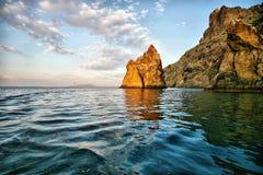 Golden gate rock in Karadag National park Crimea Stock Photography