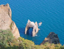 Golden Gate rock in Karadag, National park, Crimea Stock Photography