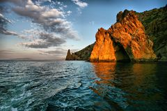 Golden gate rock in Karadag National park Crimea Stock Photos
