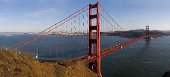 Golden Gate with San Francisco Royalty Free Stock Images
